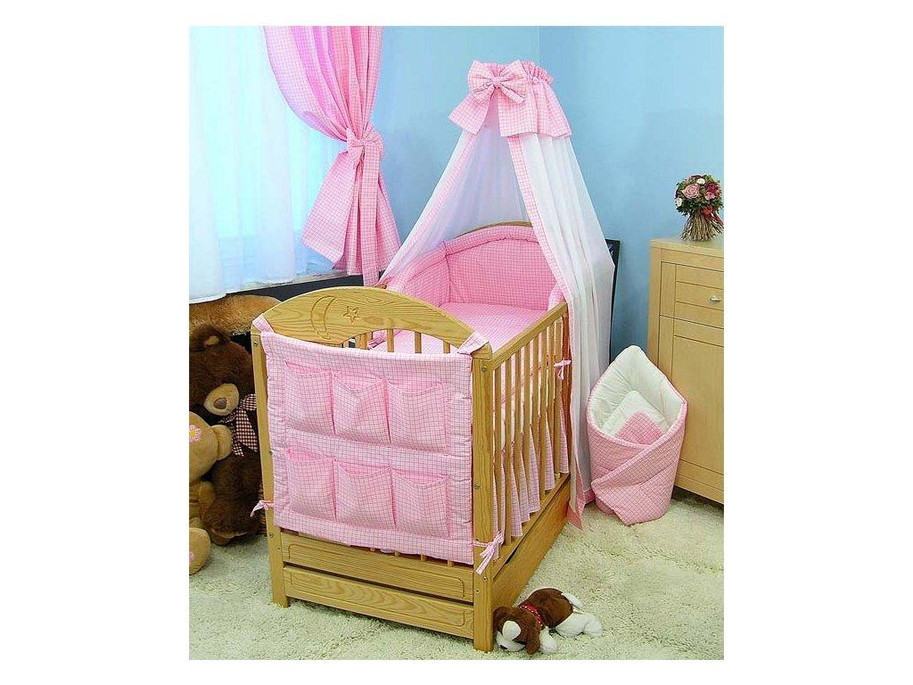 Dětská postýlka - růžové provedení