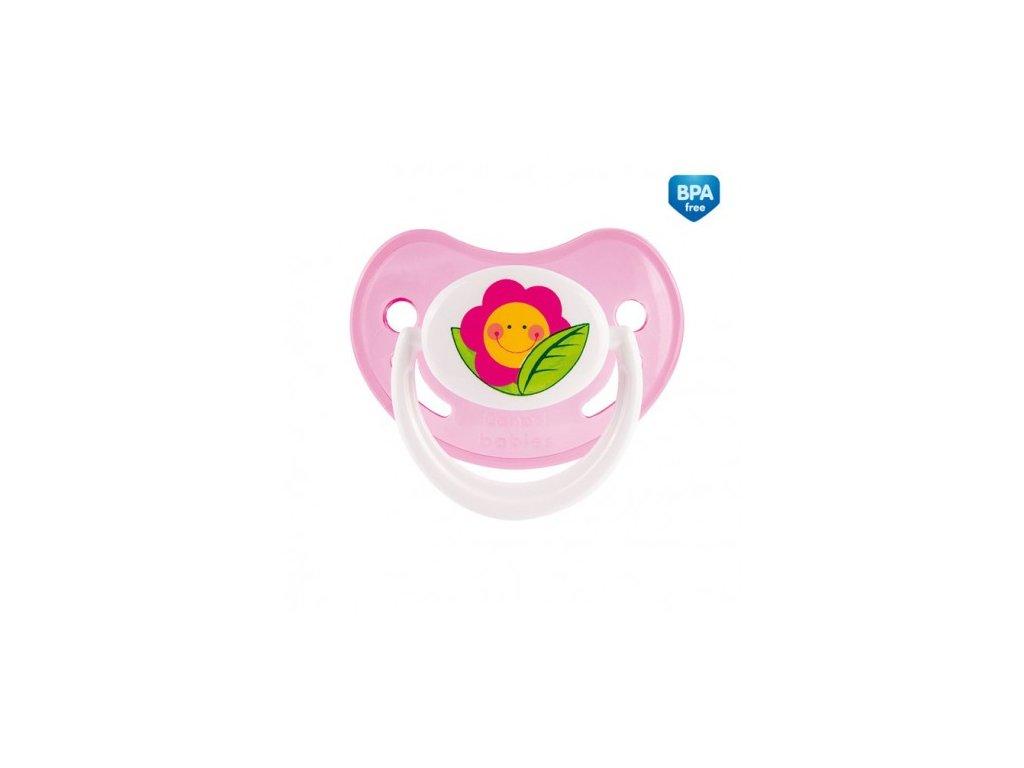 Šidítko silikonové anatomické HAPPY GARDEN růžové