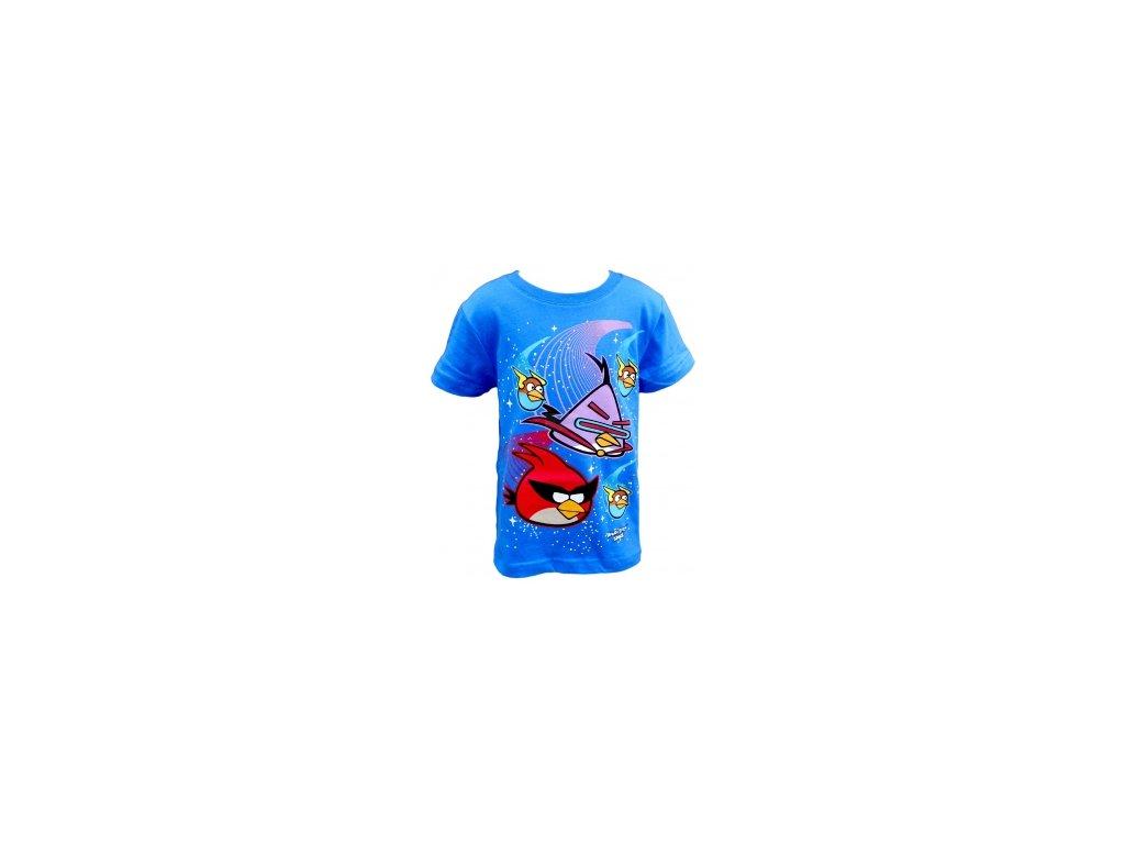 Tričko Angry Birds krátký rukáv modré new vel.152
