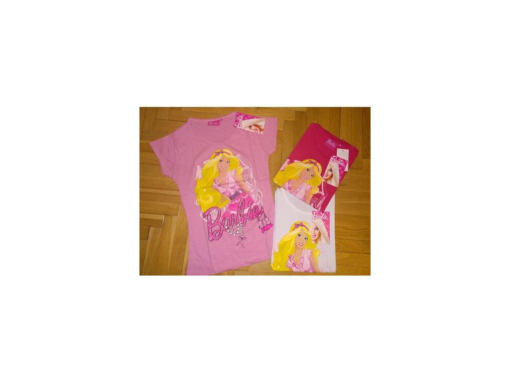 Tričko Barbie malinové 98
