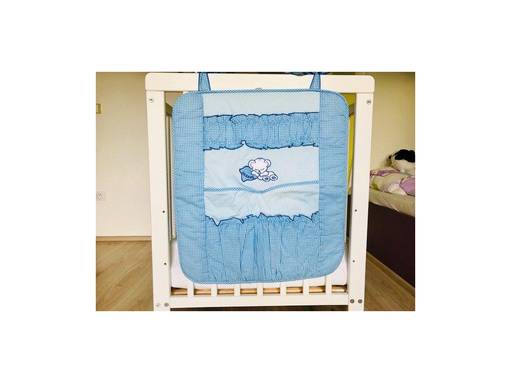 Luxusní kapsář s mini kostičkou modrý