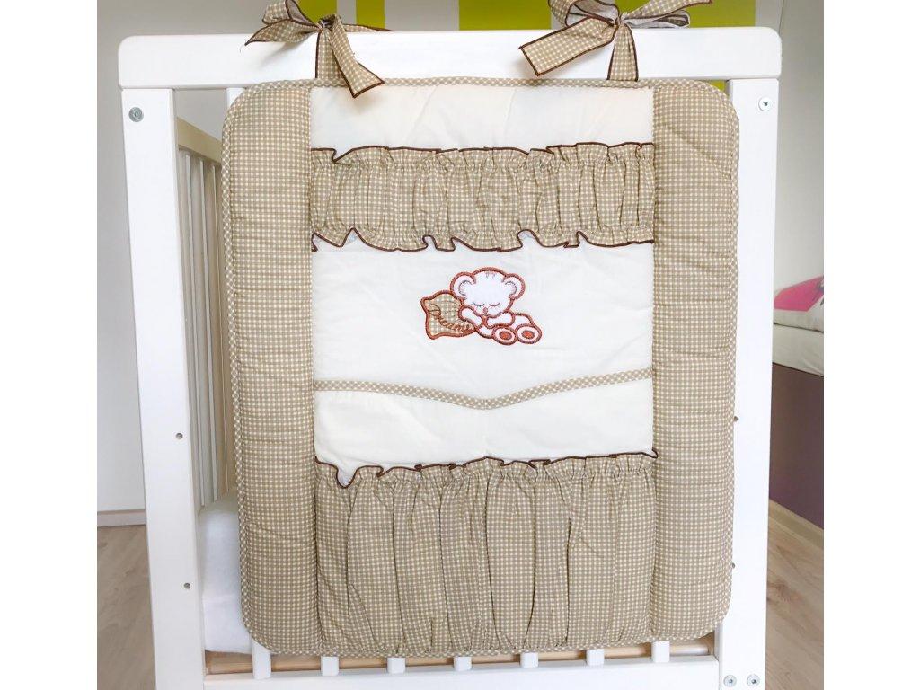 Luxusní kapsář s mini kostičkou béžovo hnědý
