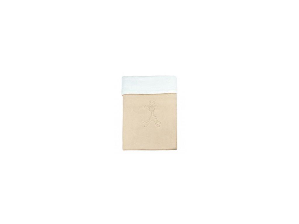 Emitex Deka bavlna + microfleece 70x100 cm Béžová/bílá s výšivkou