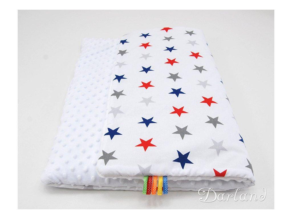 deka minky red star white