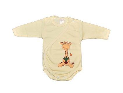 Bavlněné body giraffe žluté 62