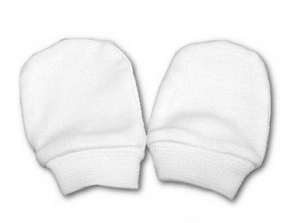 Bavlněné rukavičky pro miminka bílé vel.56