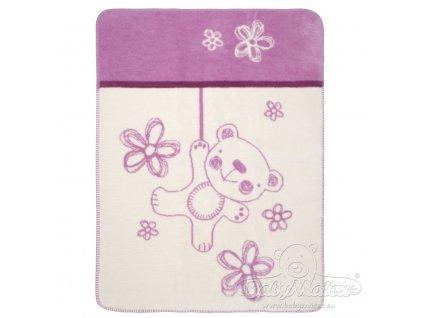 Baby Matex Deka Teddy Collection fialová