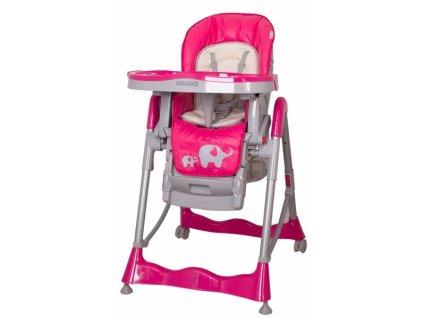 Jídelní stoleček Coto baby Mambo new růžová