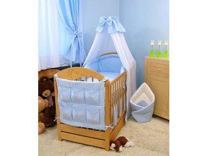 Dětské povlečení na polštář a přikrývku - modré provedení