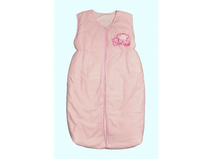 Elan Luxusní spací vak s výšivkou růžový