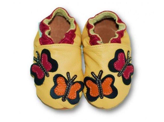 Fiorino Kožené capáčky Motýlci M