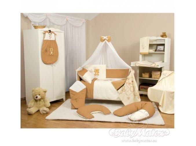 Baby Matex 3-dílné povlečení Teddy Collection hnědé