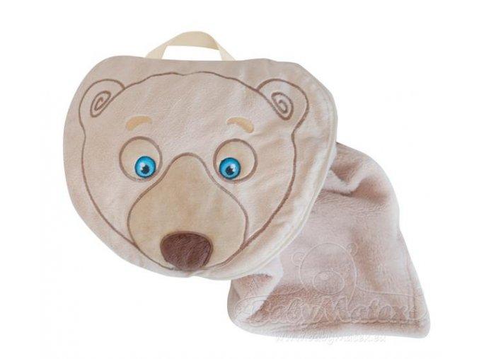 Baby Matex Sami deka 2v1 75x100 cm Béžový medvídek
