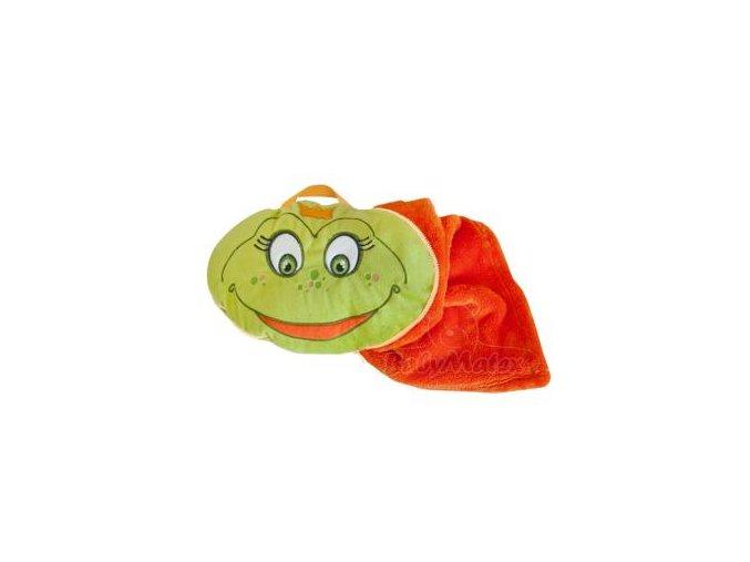 Baby Matex Sami deka 2v1 75x100 cm Zeleno oranžová žabka