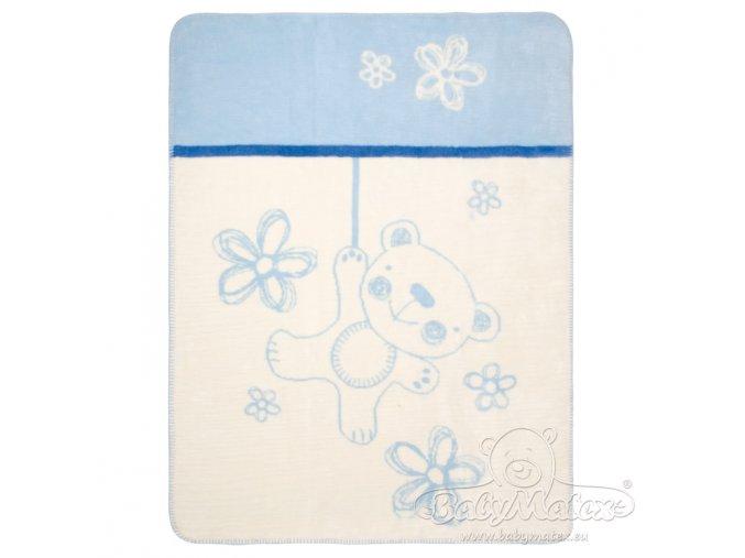 Babymatex Deka Teddy Collection modrá