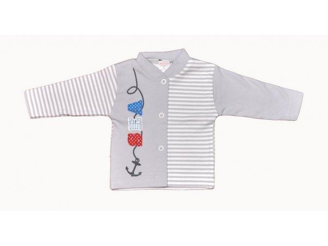 Bavlněný kabátek Sea šedý vel.56