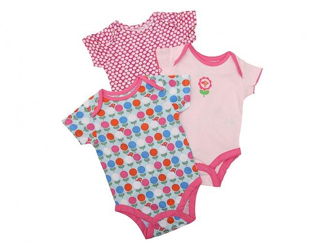 Body rostoucí 3kusy holčička 0-9 měsíců