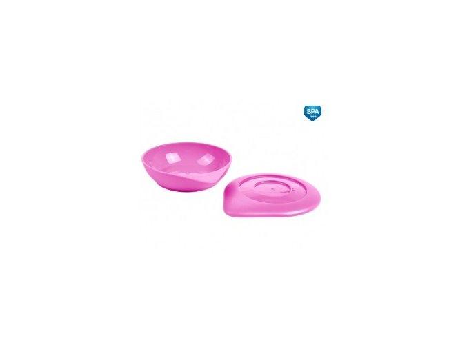 Canpol Babies 31/399 Misky s víčkem BASIC 2ks růžové