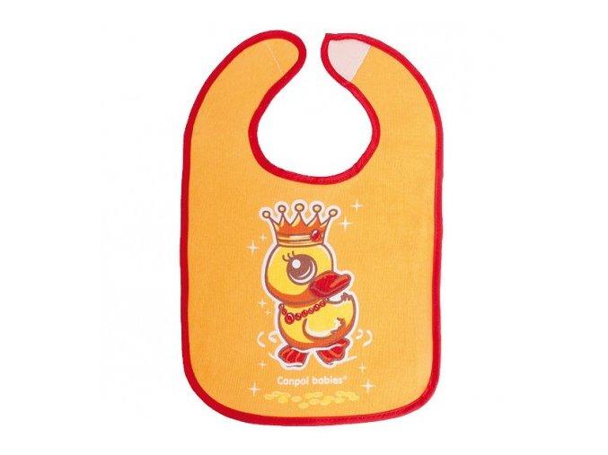 Canpol Babies Bryndák bavlna/PEVA Fairy Tale suchý zip  oranžový