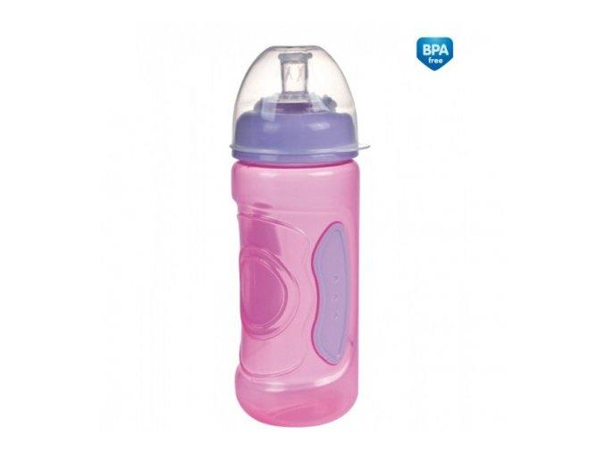 Canpol Babies Nevylévací láhev protiskluzová 56/002  růžová