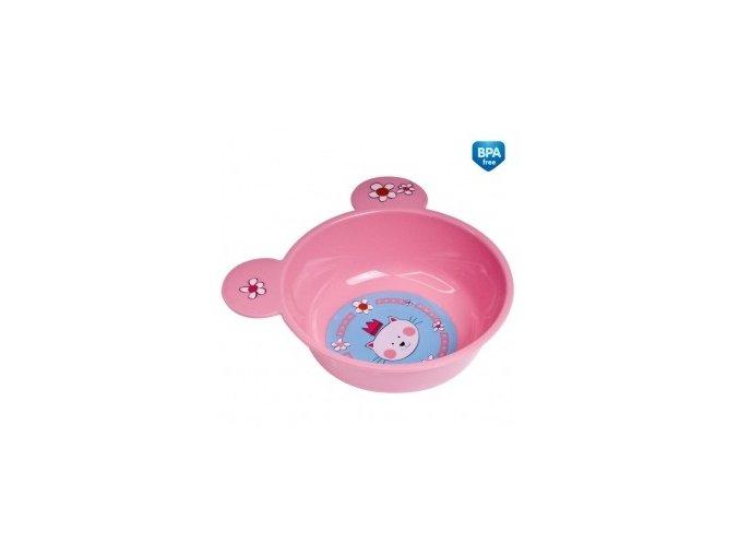 Canpol Babies Plastová miska s ouškama 4/415 růžová