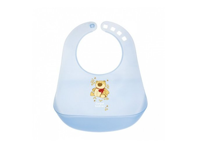 Canpol Babies Plastový bryndák tvrdý Happy Animals