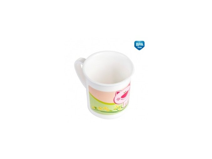 Canpol Babies Plastový hrníček 4/413 růžová kočka