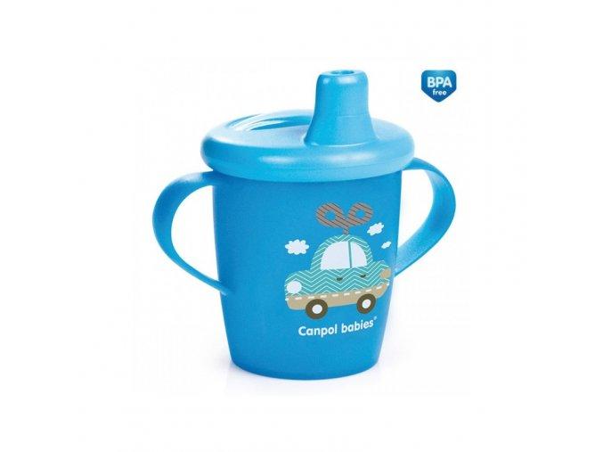 Canpol Nevylévací hrníček Anywayup z kolekce Haberman modrý