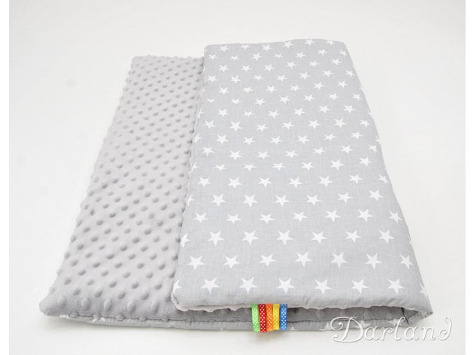 DARLAND Deka MINKY 75x100 Hvězdičky šedé/šedá