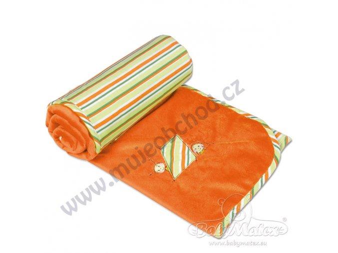 Dětská deka LOVE Babymatex oranžová