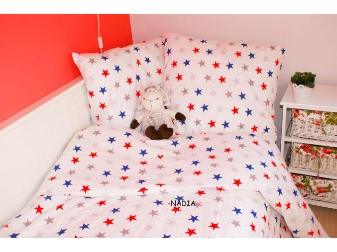 Dětské povlečení 140x200,70x90 Hvězdy Amerika