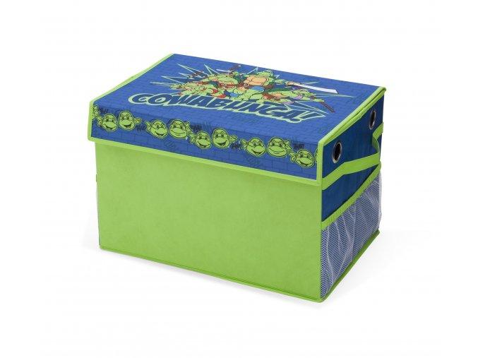 Dětský látkový box na hračky Želva Ninja