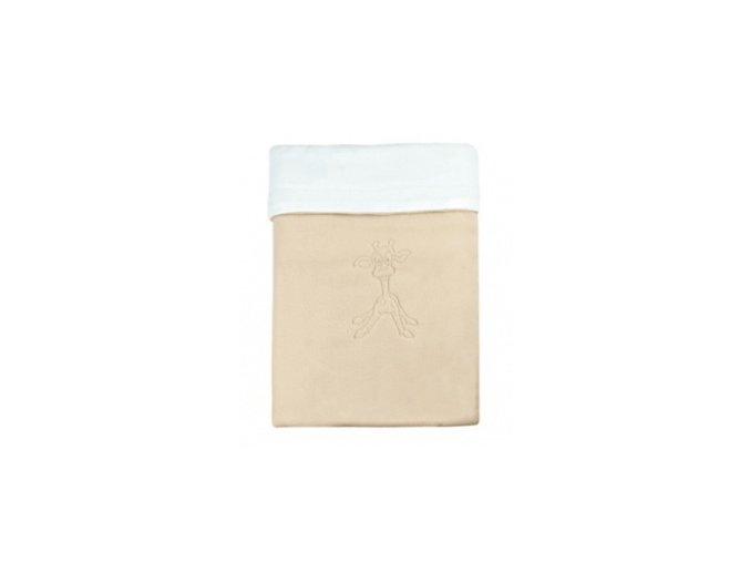 Emitex Deka bavlna + microfleece 70x100 cm Béžová/bílá