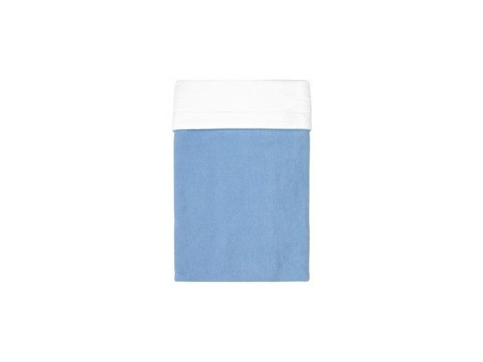 Emitex Deka bavlna + microfleece 70x100 cm Modrá/bílá s výšivkou