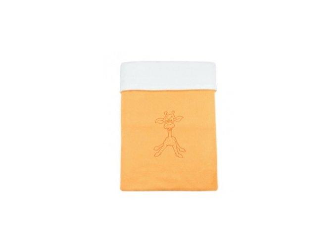 Emitex Deka bavlna + microfleece 70x100 cm Oranžová/bílá s výšivkou