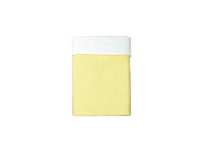 Emitex Deka bavlna + microfleece 70x100 cm Žlutá +bílá