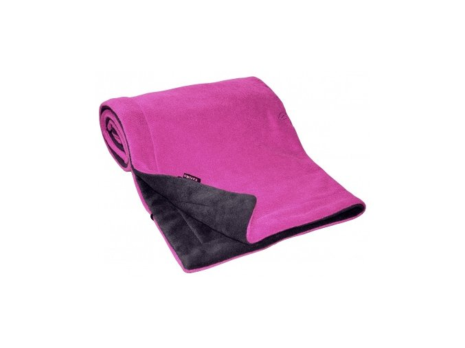Emitex Deka fleece 70x100 cm Antracit + Fuchsie