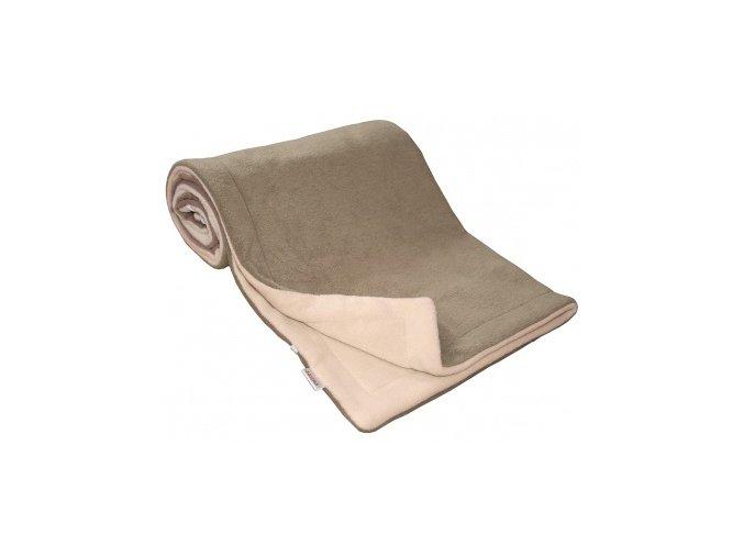 Emitex Deka fleece 70x100 cm Hnědá/béžová