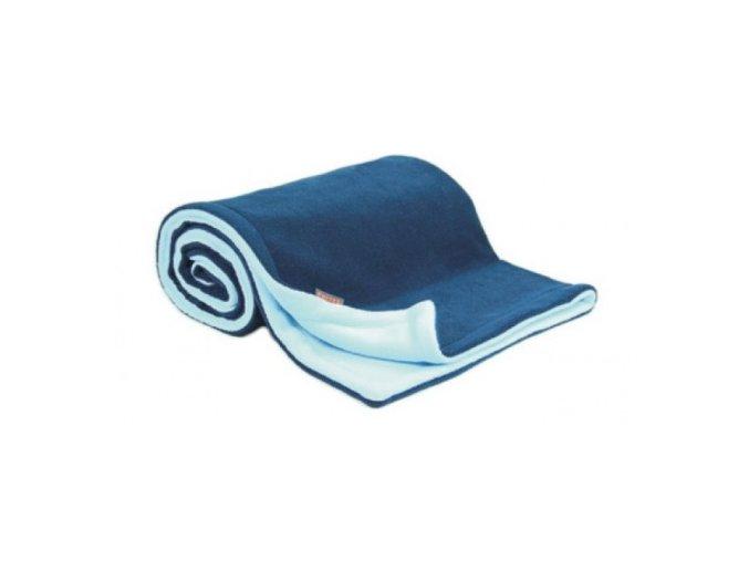 Emitex Deka fleece 70x100 cm tmavě modrá + světle modrá