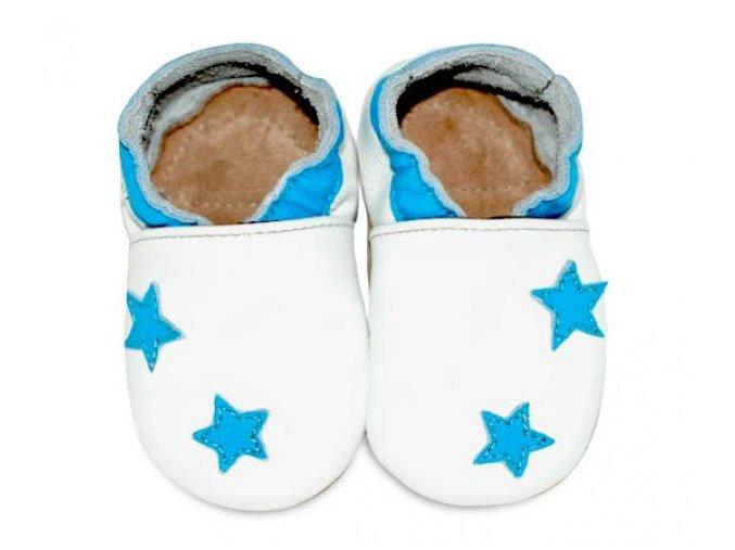 Fiorino Kožené capáčky Hvězdičky modré L