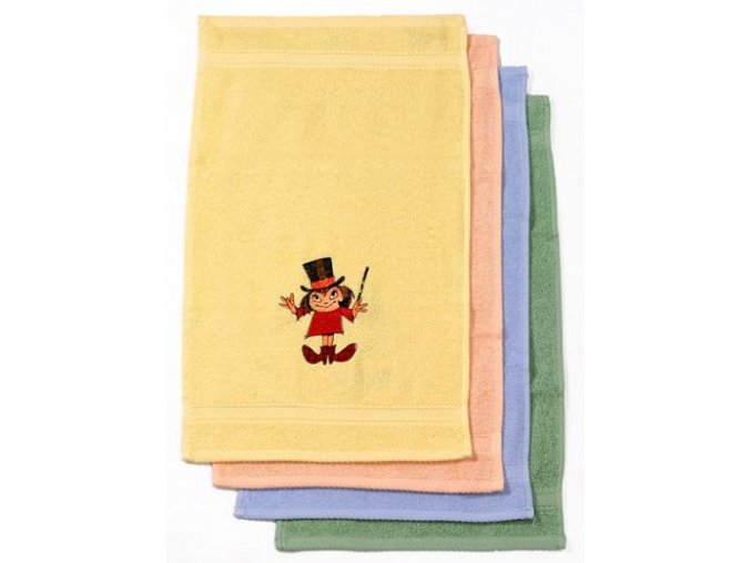 Froté ručník žlutý s výš.Malá čarodějnice