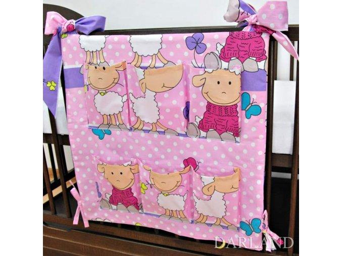 Kapsář Veselé ovečky růžovo-fialové Darland