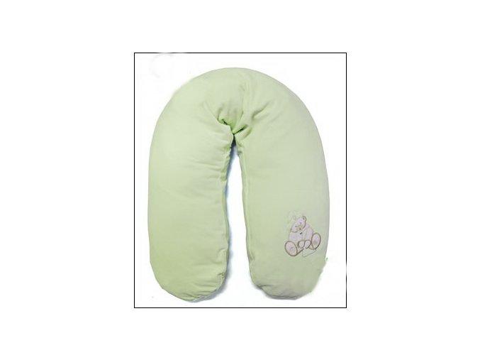 Womar Kojící polštář s výpl. špaldových plev EXCLUSIVE zelený