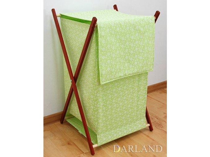 Koš na prádlo Louka zelená