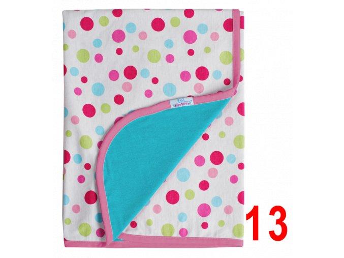 Letní deka Ines 75x100 tyrkysová s puntíky Baby Matex
