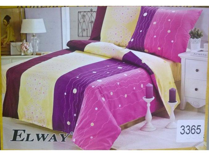 Matex Povlečení 140x200 z bavlněného saténu Dream fialovo růžové