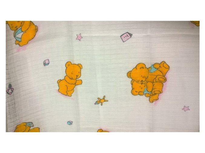 Pleny s potiskem Medvídci oranžoví