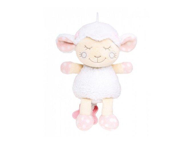 Plyšová hrající skříňka ovečka růžová Canpol Babies