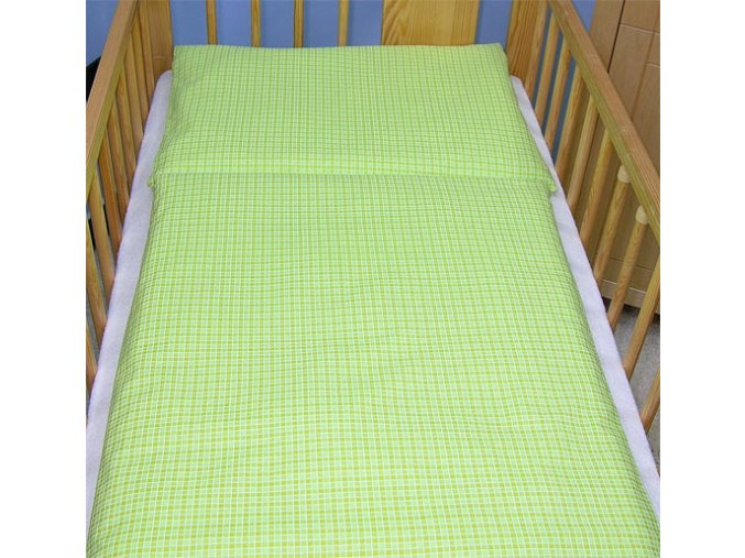 Povlečení do postýlky kostička zelená 120x90