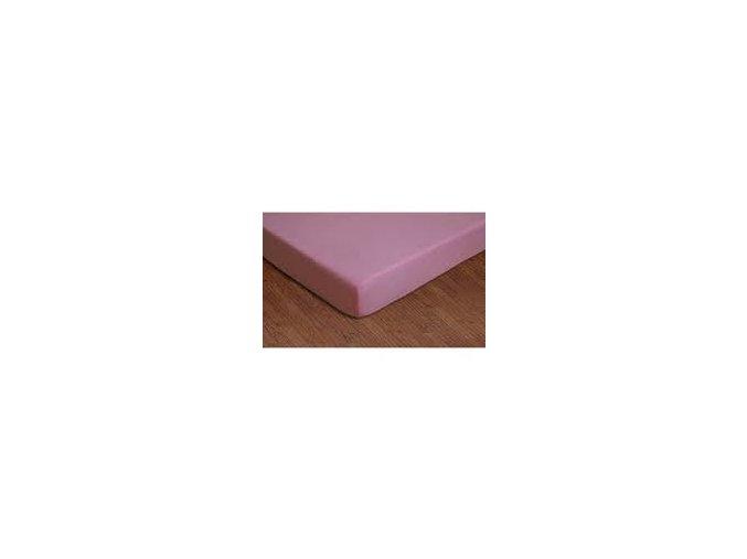 Prostěradlo bavlněné růžové 200x90